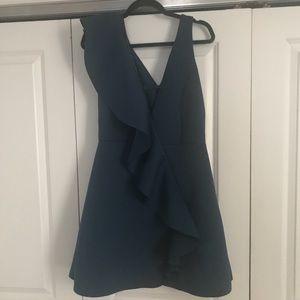 ASOS ruffle front shift dress